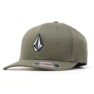 ボルコム キャップ メンズ VOLCOM FULL STONE XFIT CAP ベースボールキャップ コットン 帽子 CVG FLEX FIT L/XL 大きいサイズ / カーキ