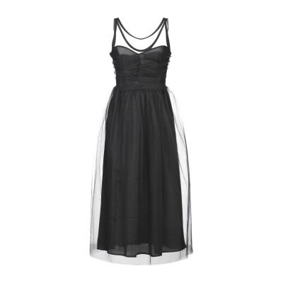 スーベニア SOUVENIR 7分丈ワンピース・ドレス ブラック M ナイロン 100% 7分丈ワンピース・ドレス