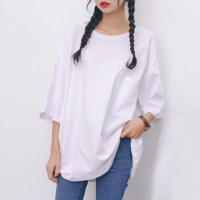 Tシャツ レディース 半袖 カジュアル 綿100% 白 黒 おしゃれ 無地 スポーツ 大きいサイズ シンプル クルーネック 春夏 ダンス