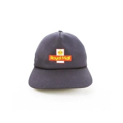 【中古】ロイヤルメール ROYAL MAIL SUMMER CAP サマーキャップ 5パネルキャップ 帽子 ロゴ刺繍 バックベルト S ネイビー 紺 【ベクトル 古着】