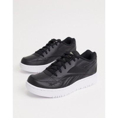 リーボック レディース スニーカー シューズ Reebok Classics Court Double mix sneakers in black white & pantone Black/white/pantone