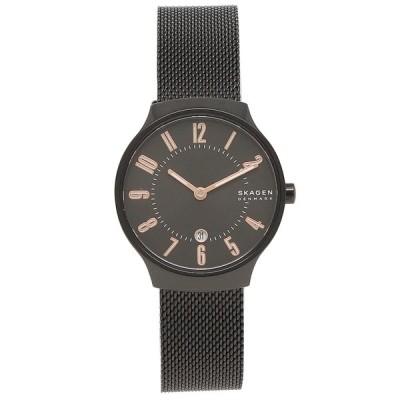「P10%還元 6/20 20時〜24時」スカーゲン 時計 レディース グレーネン28MM クォーツ ブラック ブラック SKAGEN SKW2806