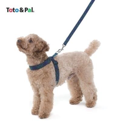 Toto&Pal(トトパル) ロイヤルタータンチェックハーネス レッド・約・胴回り23~35×幅1.0cm ハーネス 犬用