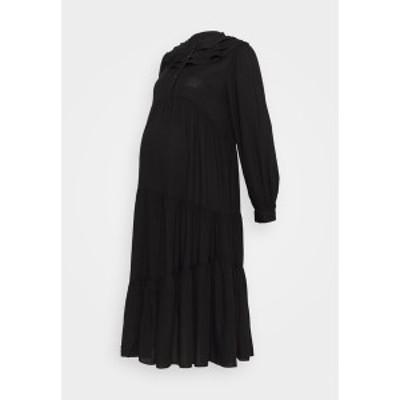 トップショップ レディース ワンピース トップス DAISY GRANDAD - Day dress - black black