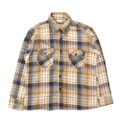 ヘビーネルシャツ ボックスシャツ チェック 長袖 サイズ表記:--