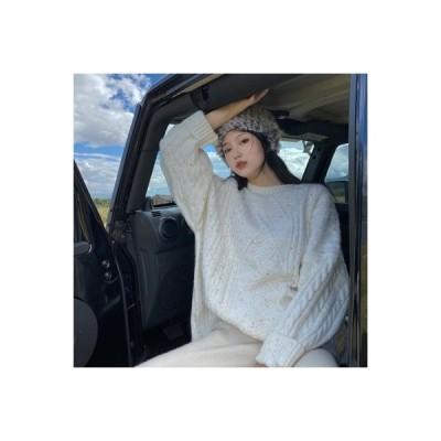 【送料無料】セーター ヘッジ オーバーサイズ 風 秋冬 ルース 韓国風 ミディ丈 ニット | 364331_A63957-8104986