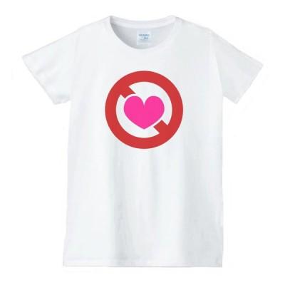 ハート 虹 星 Tシャツ 白 レディース 女性用 jhn54