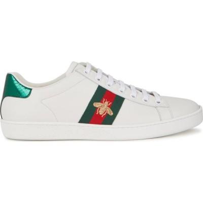 グッチ Gucci レディース スニーカー シューズ・靴 ace embroidered white leather sneakers White