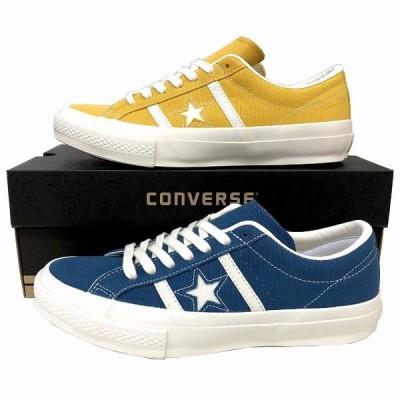 コンバース converse ONE STAR ワンスター スター&バーズ キャンバス ダスティブルー ゴールド STAR&BARS メンズ スニーカー