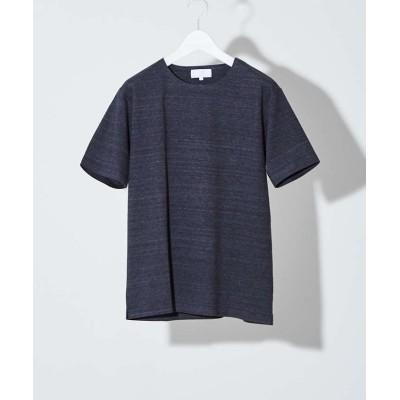 【アバハウス】 圧着クルーネック 半袖Tシャツ メンズ チャコール グレー 46 ABAHOUSE