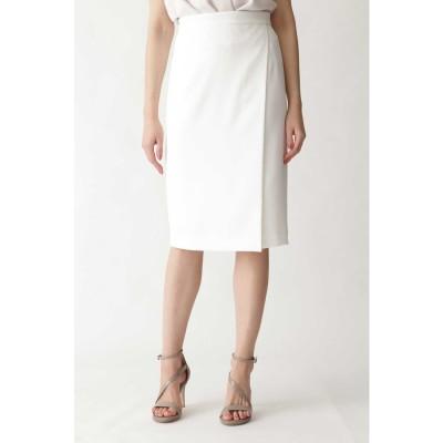 トリアセ綾二重スカート ホワイト