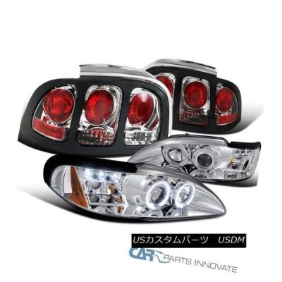 ヘッドライト フォード94-98マスタングコブラクリアハロープロジェクタヘッドライト+タイ  lブレーキランプペア Ford