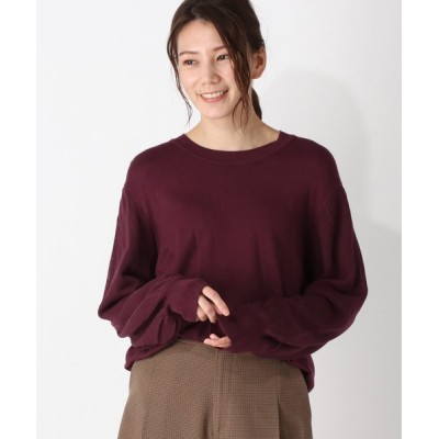 grove / 袖シアーレイヤードニット WOMEN トップス > ニット/セーター