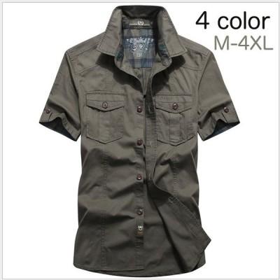 シャツ メンズ 半袖 綿100% 新作 夏 春 秋 30代 40代 50代  大きいサイズ  おしゃれ カジュアル 無地 純色 ビジネス 通勤 綿質 送料無料
