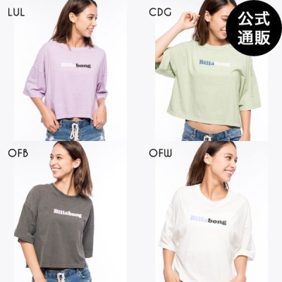 【SALE】2021 ビラボン レディース TEE SHIRTS クロップドTシャツ 2021年春夏モデル  全4色 M/L BILLABONG