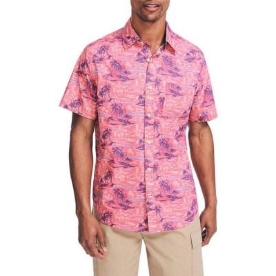 ナウティカ メンズ シャツ トップス Short Sleeve Print Poplin Shirt