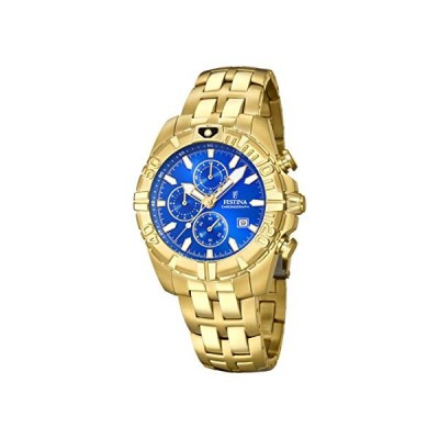 Festina Unisex Adult Chronograph Quartz Watch with Gold Plated Strap F20356/2 並行輸入品