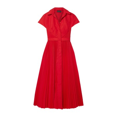 BRANDON MAXWELL 7分丈ワンピース・ドレス レッド 12 ポリエステル 100% 7分丈ワンピース・ドレス
