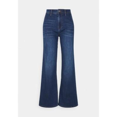 エスオリバー デニムパンツ レディース ボトムス Flared Jeans - blue stret
