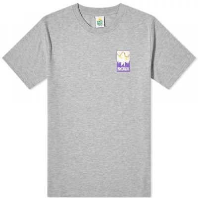 Tシャツ トップス カットソー メンズHikerdelic Patch Logo TeeGrey Marl