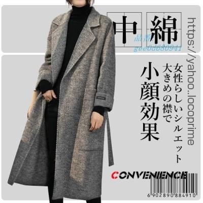 コート チェスターコート レディース オーバーコート 大きいサイズ アウター 20代30代40代50代 マキシ丈 Aライン 中綿コート 暖かい ロングコート
