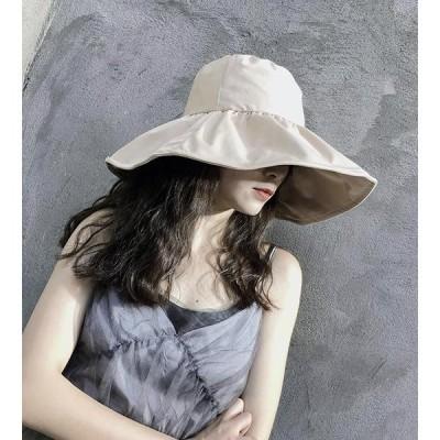 半額SALE 帽子 レディース 大きいサイズ 完全遮光 遮光100%カット UVカット つば広 折りたたみ 自転車 飛ばない 日よけ 春 夏 春夏 母の日 UV セール 大きめ
