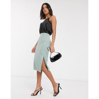 テッドベーカー Ted Baker レディース ひざ丈スカート スリットスカート スカート textured slit side midi skirt in mint ミント