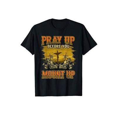 クリスチャンモーターサイクルギフトバイカーが祈る Tシャツ
