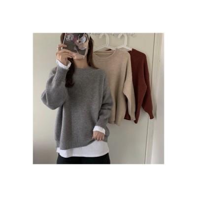 【送料無料】セーターコート 女 ルース アウトドア 年 秋冬 オーバーサイズ 風 長袖セータ | 364331_A63921-0415286