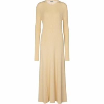 ジル サンダー Jil Sander レディース ワンピース ワンピース・ドレス Merino wool-blend midi dress Medium Beige