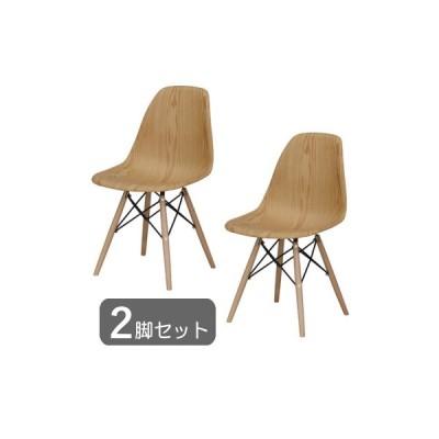 2脚セット ダイニングチェア オーク 木製 天然木 スチール 店舗 カフェ風 おしゃれ シンプル 北欧 モダン ナチュラル チェア 椅子 イス