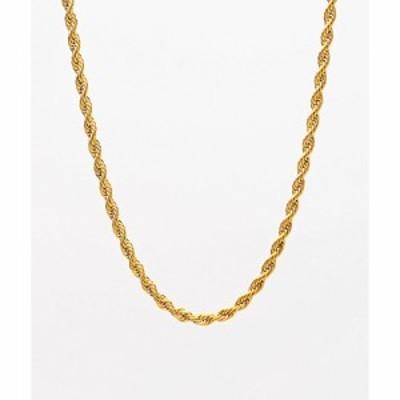 ザゴールドゴッズ THE GOLD GODS メンズ ネックレス ジュエリー・アクセサリー The Gold Gods 22 Yellow Gold Rope Chain Necklace Gold