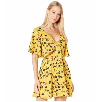 BCBジェネレーション レディース ワンピース トップス Day Tie Front Open Back Dress TIL6229278 Sunshine