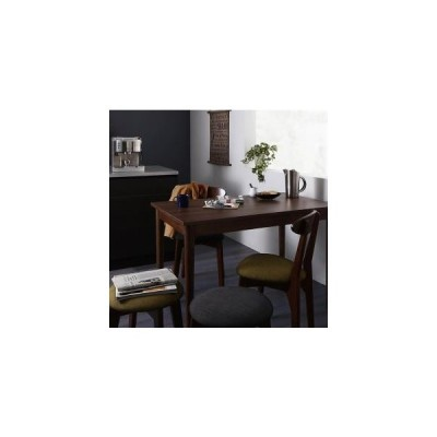 ダイニングテーブルセット 2人用 カフェ ヴィンテージ ダイニング 3点セット テーブル+チェア2脚 ブラウン W115