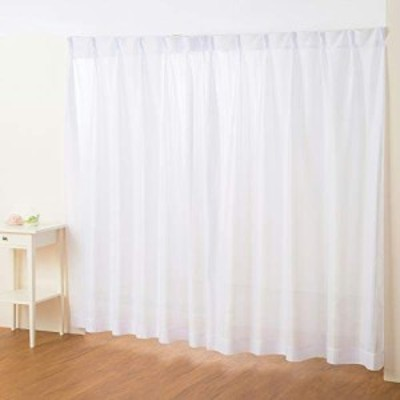(カーテン専門店)外から見えにくい「ストライプミラーレースカーテン(幅150cmx丈176cm 1枚入り)」 全18サイズ 白 ホワイト (洗える)