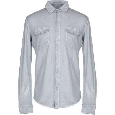 マジェスティック MAJESTIC FILATURES メンズ シャツ トップス solid color shirt Grey