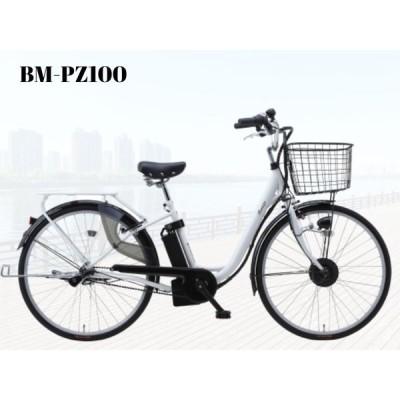 【またぎやすいSUISUIモデル】完組配送 電動アシスト自転車 内装3段 ワンタッチコントローラー 26インチ BM-PZ100 プレゼント