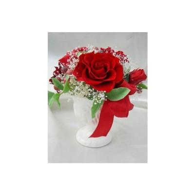 心温まる ローズボンボン 赤いバラのアレンジ プリザーブドフラワー
