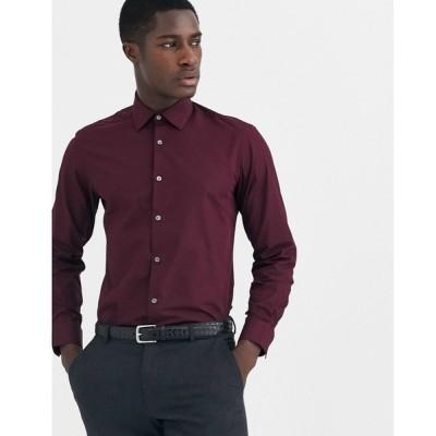 フレンチコネクション French Connection メンズ シャツ トップス slim fit poplin shirt