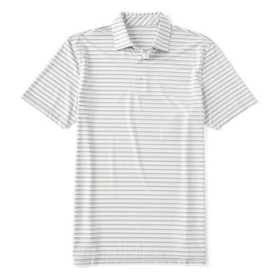 サウザーンタイド メンズ シャツ トップス BRRR-Eeze Heather Stripe Performance Short-Sleeve Polo Shirt