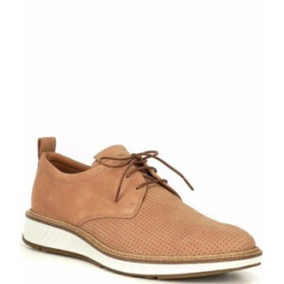 エコー メンズ ドレスシューズ シューズ Men's ST.1 Hybrid Perf Plain Toe Oxfords Cashmere