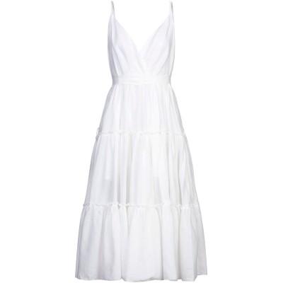MUST 7分丈ワンピース・ドレス ホワイト L ポリエステル 100% 7分丈ワンピース・ドレス