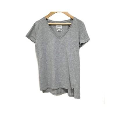 【中古】トゥデイフル TODAYFUL カットソー Tシャツ Vネック 無地 半袖 S グレー レディース 【ベクトル 古着】
