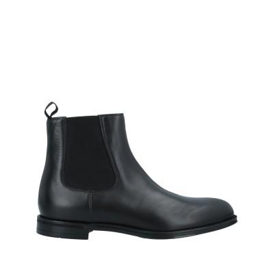 デュカルス DOUCAL'S ショートブーツ ブラック 46 牛革(カーフ) ショートブーツ