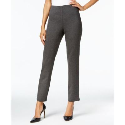 ジェイエムコレクション JM Collection レディース ショートパンツ Hollywood Ponte-Knit Pull-On Pants in Regular and Short Length Charcoal Nite