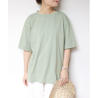 tシャツ Tシャツ BRING Material×オーガニックコットン スリットロングTEE◇