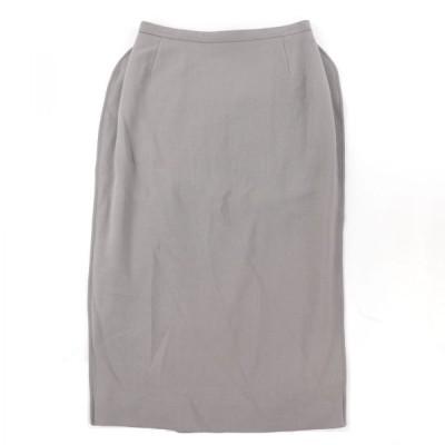 ニナリッチ フリルデザイン ウールタイトスカート バックジップ レディース 36 グレー 未使用 NINA RICCI【C3-10477】
