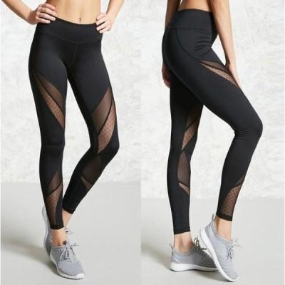 レディースレギンス ヨガパンツ 女性 スポーツタイツ ブラック メッシュ フィットネスパンツ 選べる3タイプ