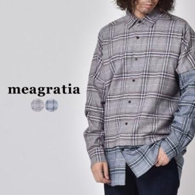 セール シャツ メンズ レディース おしゃれ ブランド meagratia メアグラーティア ネルシャツ フランネルシャツ カジュアルシャツ 長袖