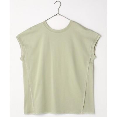 FREAK'S STORE / ブランケットステッチノースリーブTシャツ WOMEN トップス > Tシャツ/カットソー